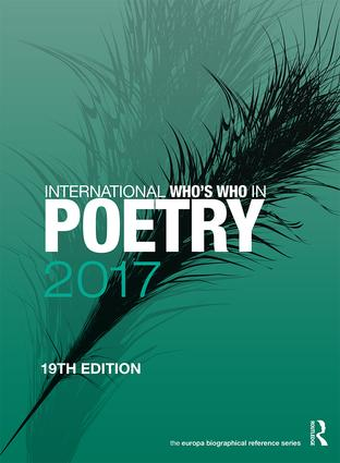 International Who's Who in Poetry 2017