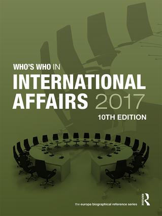 Who's Who in International Affairs 2017 book cover