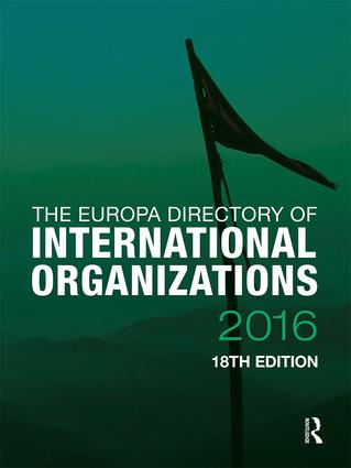 The Europa Directory of International Organizations 2016: 18th Edition (Hardback) book cover