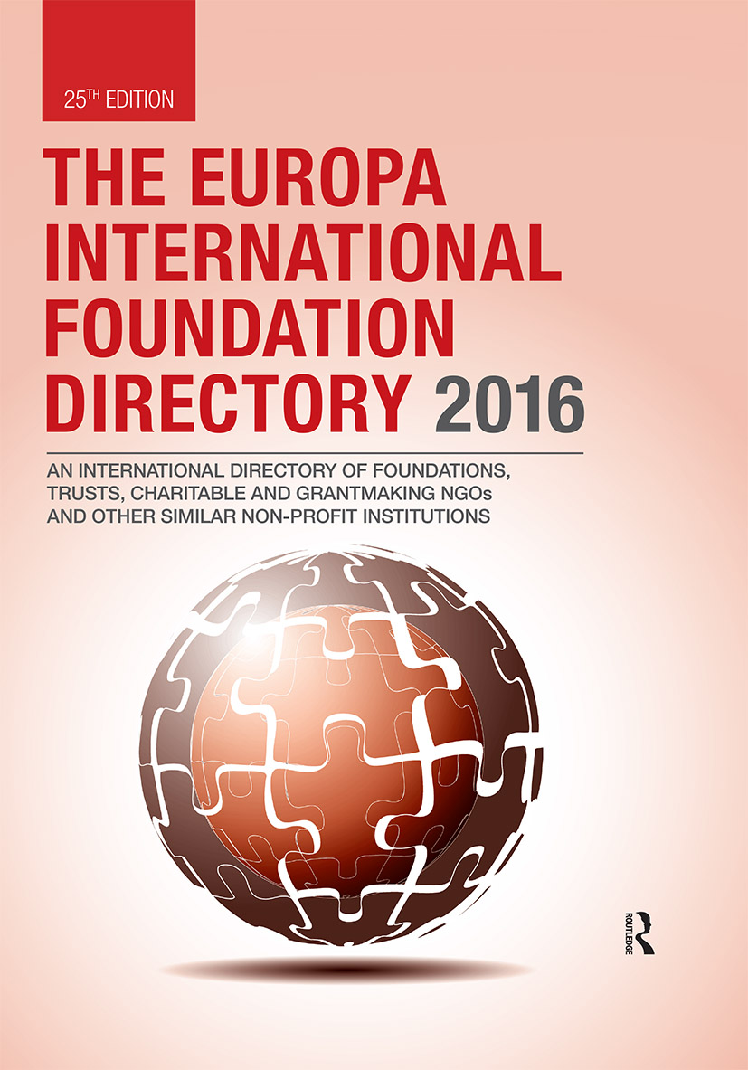 The Europa International Foundation Directory 2016 book cover