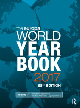 The Europa World Year Book 2017: 58th Edition (Hardback) book cover
