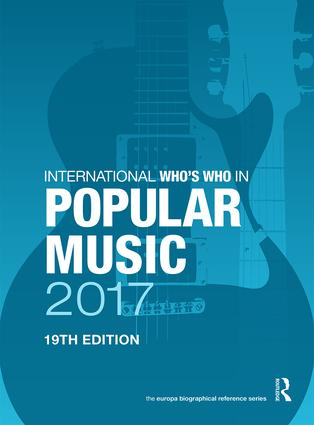 International Who's Who in Popular Music 2017 book cover