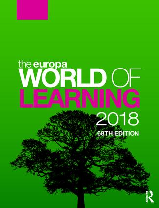 The Europa World of Learning 2018 book cover