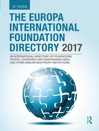 The Europa International Foundation Directory 2017 book cover
