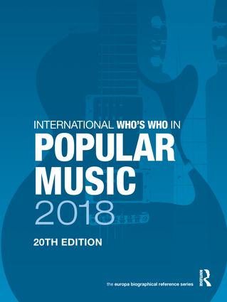 International Who's Who in Popular Music 2018 book cover