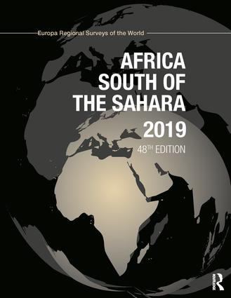 Africa South of the Sahara 2019 book cover