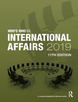 Who's Who in International Affairs 2019 book cover