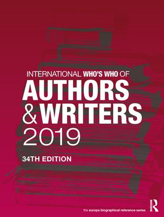 International Who's Who of Authors and Writers 2019: 34th Edition (Hardback) book cover