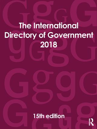 The International Directory of Government 2018 book cover