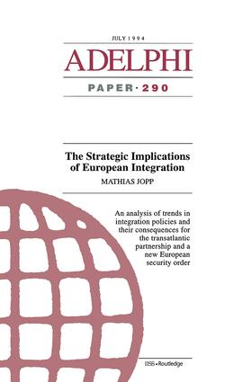 The Strategic Implications of European Integration: 1st Edition (Paperback) book cover