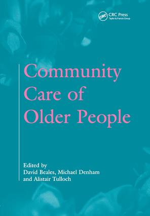 Community Care of Older People: 1st Edition (Paperback) book cover