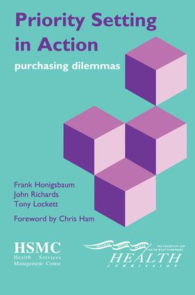 Priority Setting in Action: Purchasing Dilemmas, 1st Edition (Paperback) book cover