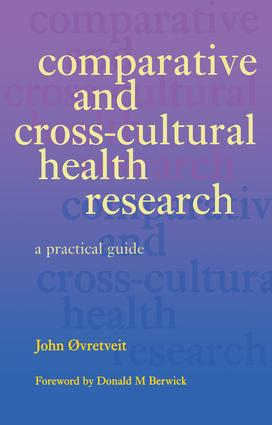 Comparative and Cross-Cultural Health Research