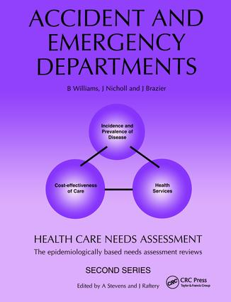 Health Care Needs Assessment: The Epidemiologically Based Needs Assessment Review, 1st Edition (Paperback) book cover