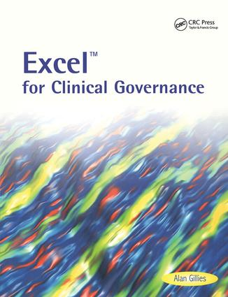 Excel for Clinical Governance: 1st Edition (Paperback) book cover
