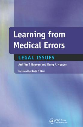 Learning from Medical Errors: Legal Issues, 1st Edition (Paperback) book cover