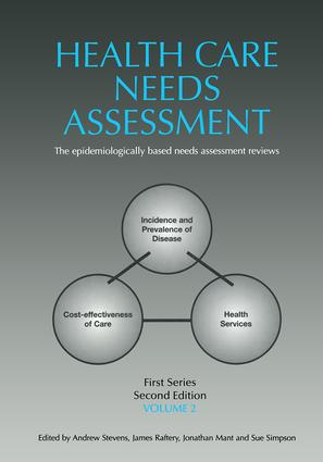 Health Care Needs Assessment, First Series, Volume 2, Second Edition: 2nd Edition (Paperback) book cover