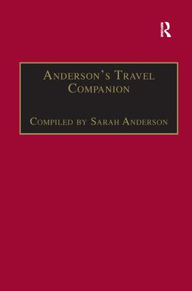 Anderson's Travel Companion: A Guide to the Best Non-Fiction and Fiction for Travelling, 1st Edition (Hardback) book cover