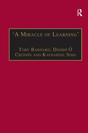 'A Miracle of Learning': Studies in Manuscripts and Irish Learning: Essays in Honour of William O'Sullivan (Hardback) book cover