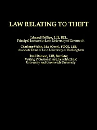 Law Relating To Theft (Paperback) book cover