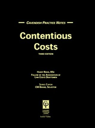 Practice Notes on Contentious Costs (Paperback) book cover