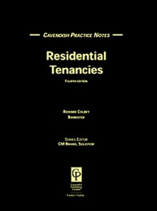 Practice Notes Residential Tenancies book cover