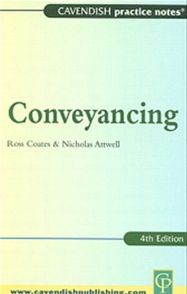 Practice Notes on Conveyancing book cover