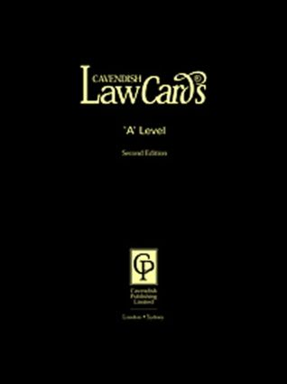 Cavendish: 'A' Level Lawcards