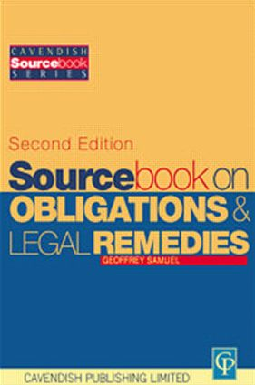 Sourcebook on Obligations & Remedies 2/e