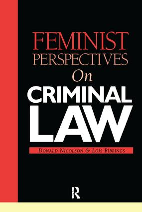 Feminist Perspectives on Criminal Law book cover