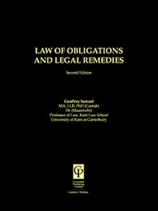 Law of Obligations & Legal Remedies: 2nd Edition (Paperback) book cover