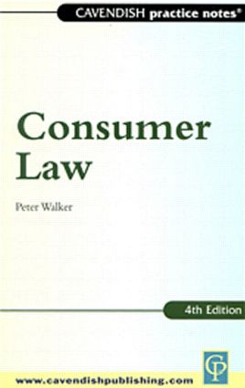 Practice Notes on Consumer Law (Paperback) book cover