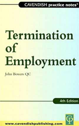 Practice Notes on Termination of Employment Law: 1st Edition (Paperback) book cover