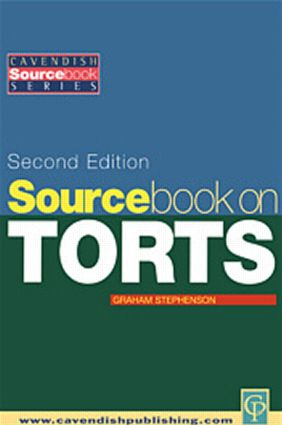 Sourcebook on Tort Law 2/e (Paperback) book cover