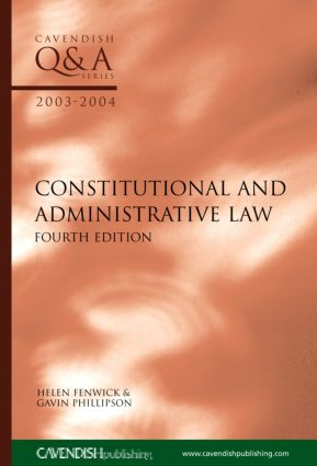 Constitutional & Administrative Law Q&A 2003-2004 book cover
