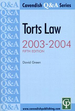 Torts Q&A 2003-2004 5/e