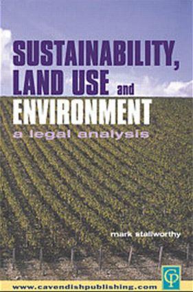 Sustainability Land Use and the Environment book cover