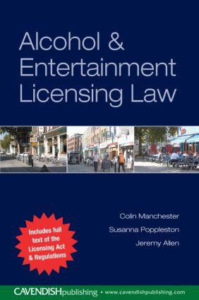 Alcohol and Entertainment Licensing Law book cover