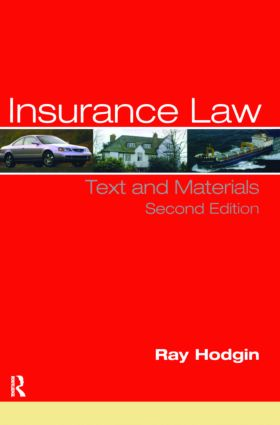 Insurance Law: Text and Materials book cover