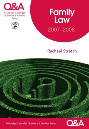 Q&A Family Law 2007-2008 book cover