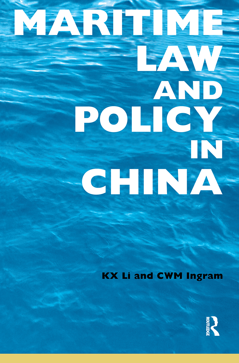 Maritime Law and Policy in China: 1st Edition (Paperback) book cover
