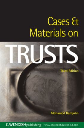 Cases and Materials on Trusts book cover