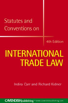 International Trade Law Statutes and Conventions 2008-2009 book cover