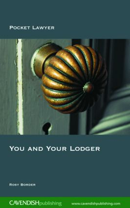 You and Your Lodger: 1st Edition (Paperback) book cover