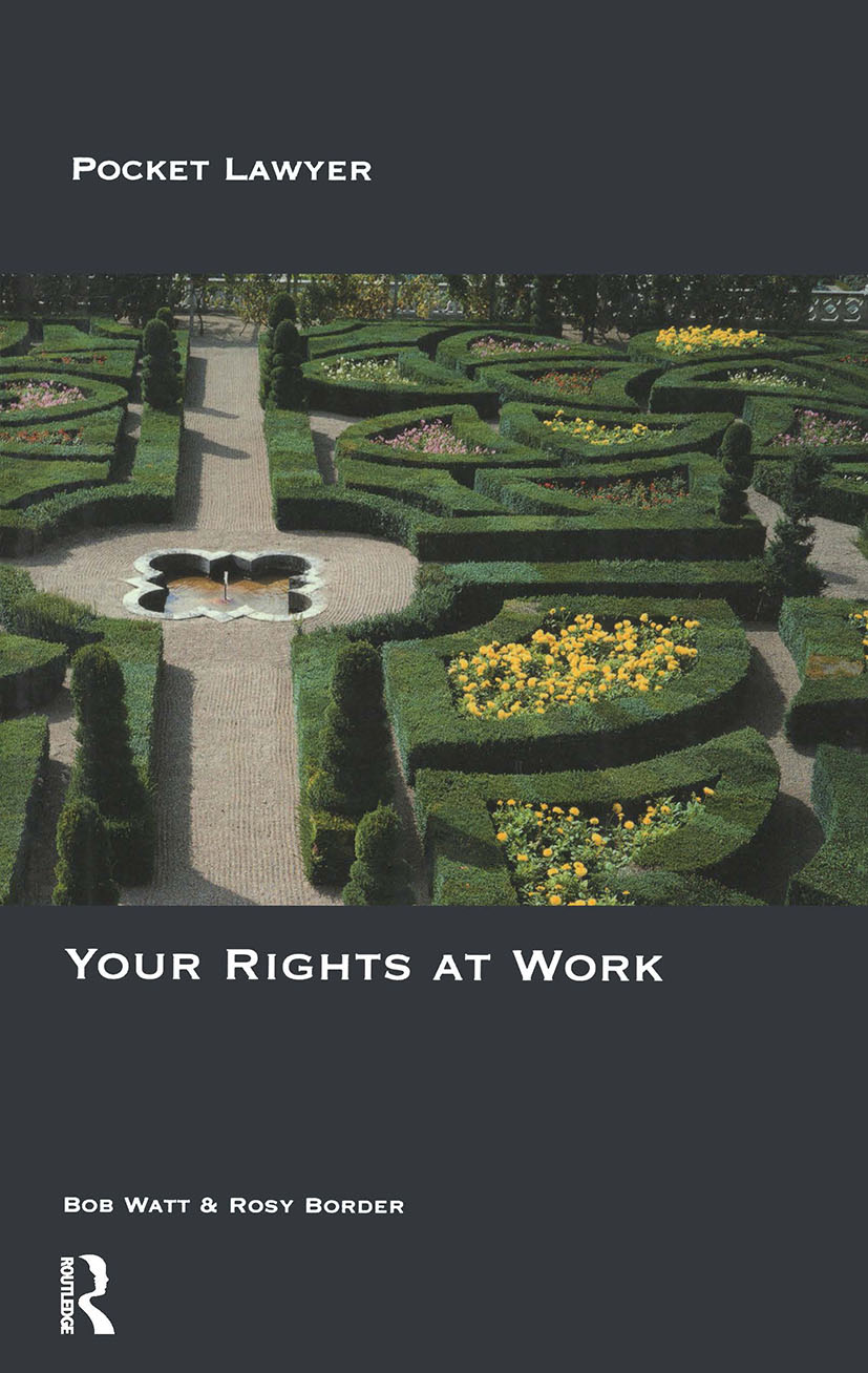 Your Rights at Work: 1st Edition (Paperback) book cover