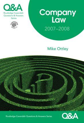 Q&A Company Law 2007-2008 book cover