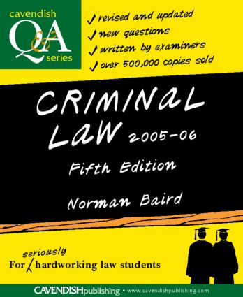 Criminal Law Q&A 2005-2006 book cover
