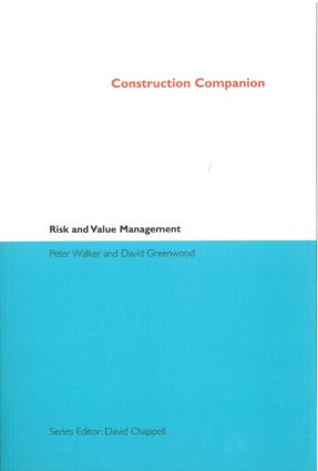 Construction Companion to Risk and Value Management: 1st Edition (Paperback) book cover
