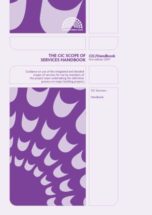 The CIC Scope of Services: 1st Edition (Paperback) book cover