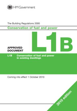 Approved Document L1B: 1st Edition (Paperback) book cover